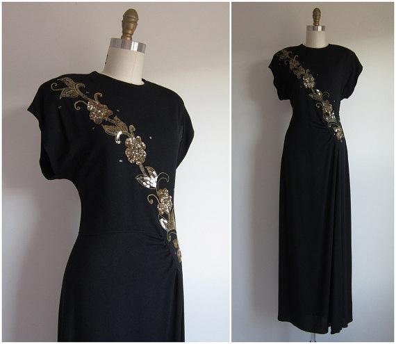 Vintage 1940s Formal Dress