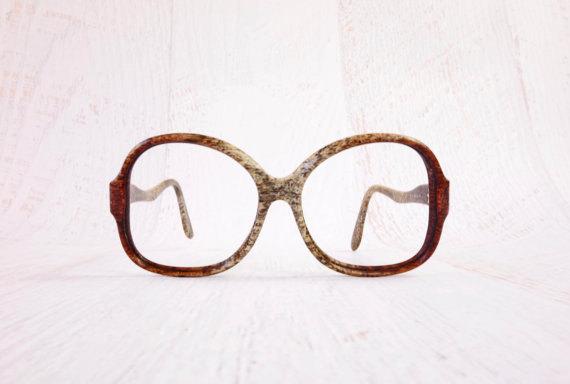 Vintage 1970s Yves Saint Laurent Eyeglass Frames Oversized