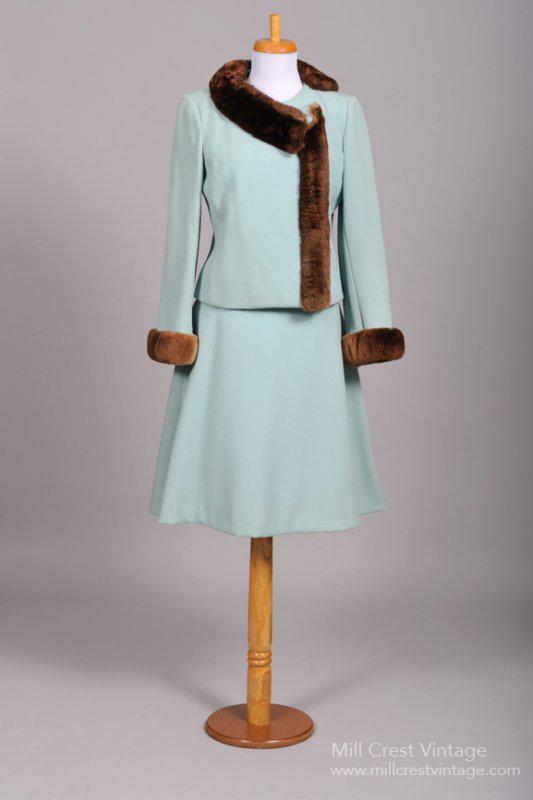 1960 Gabardine Vintage Dress and Coat