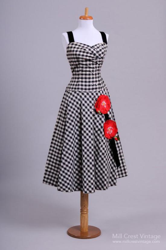 1950 Silk Floral Vintage Wiggle Dress