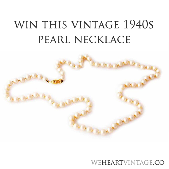 Win a Vintage Pearl necklace