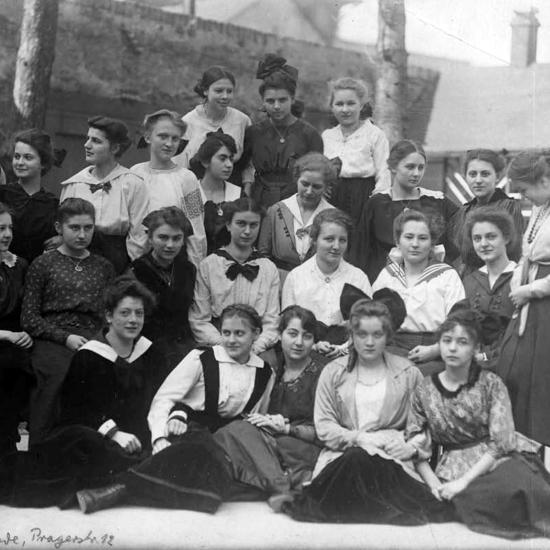 Marlene Dietrich school photo