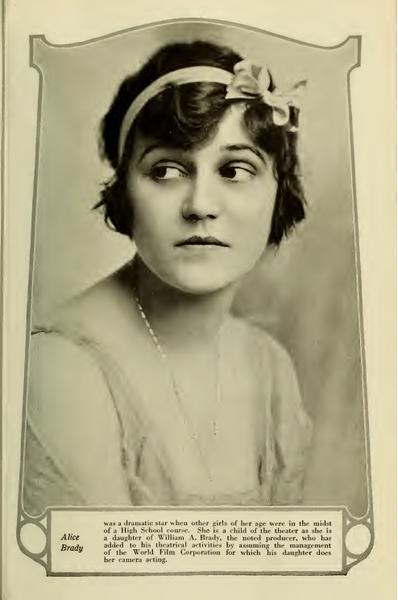 Silent Screen Icons: Alice Brady