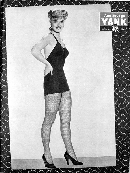 WW2 Pin-Up in Yank Magazine: Ann Savage