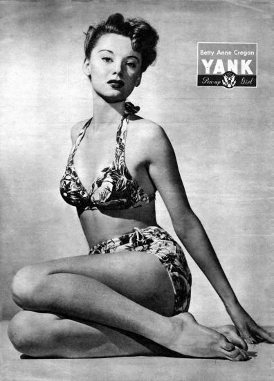 WW2 Pin-Up in Yank Magazine: Betty Anne Cregan