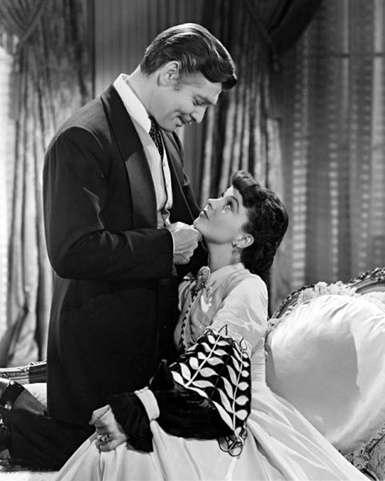 Publicity photo of Clark Gable and Vivien Leigh in Gone With the Wind. 1939