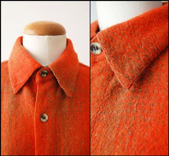 Vintage Wool Plaid Men's Shirt Jacket