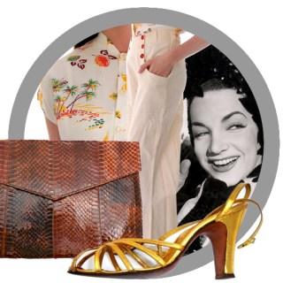 Vintage Lookbook: 1940s Daytime Outfit for Carmen Miranda