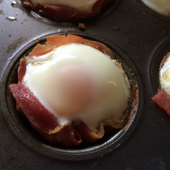 Bacon and Egg Cupcakes