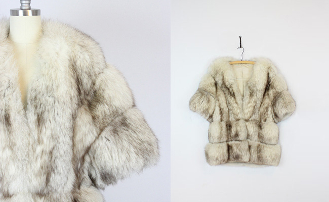 1960s Norwegian blue fox coat
