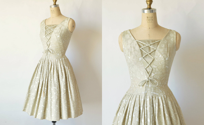 Vintage Carole King Brocade Party Dress