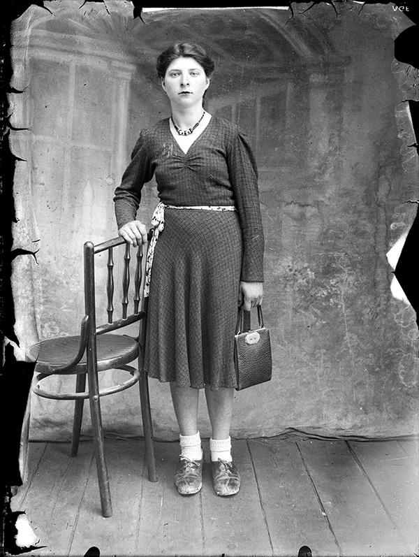 1940s photo portrait by Costică Acsinte