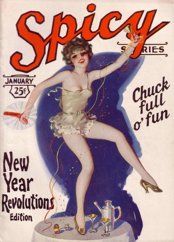 Vintage new year pinup