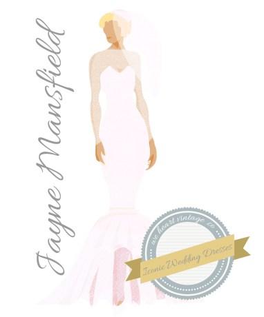 Iconic Wedding Dresses #8: Jayne Mansfield (1958)