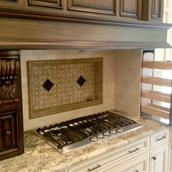South Jersey Kitchen Remodeling Tiled Island Elegant Stove Wehner General Contracting Llc Stovetop With Carved Wood Vent Hood And Backsplash Feature In Nj