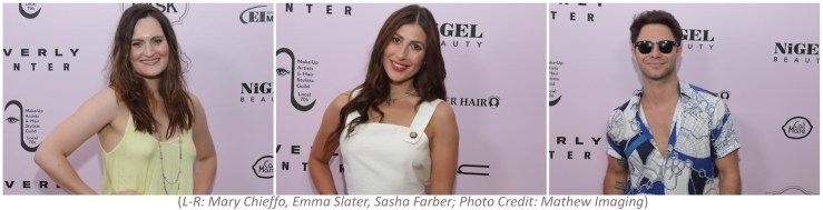 Mary Chieffo (Star Trek:Discovery), Emma Slater and Sasha Farber (Dancing With the Stars) among celebrities supporting their Emmy-nominated makeup and hair styling teams at the MUAHS Emmy Celebration at Cal Mare at Beverly Center