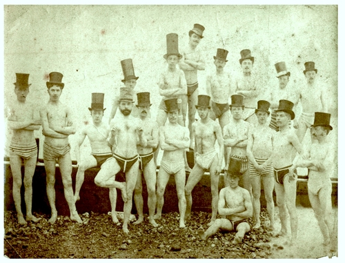 "Early PUAs hold a ""boot camp"" on a beach."
