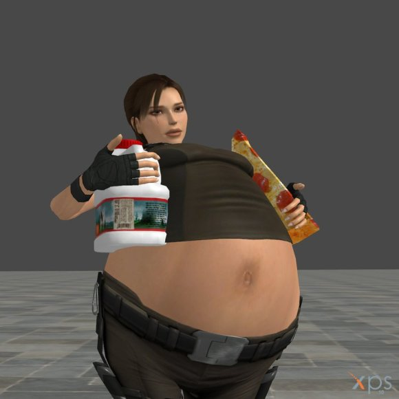 In the future, young men will be forced to play all video games as Fat Lara Croft.