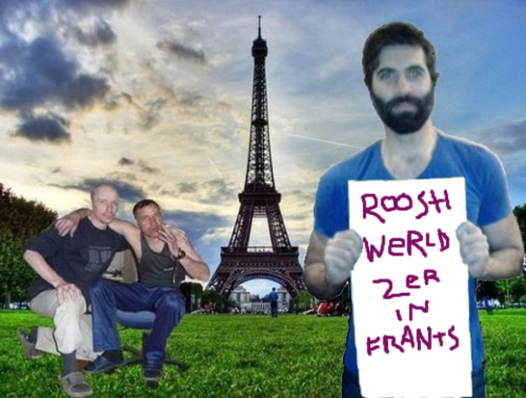 Roosh in Paris with some cool dudes