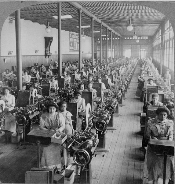 Women totally not working in a cigarette factory