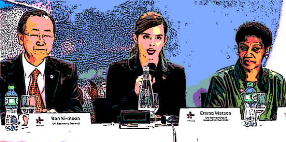 Emma Watson speaks at a HeForShe event