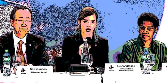 Emma Watson speaks at a HeForShe event