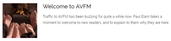 Welcome to AVFM Traffic to AVFM has been buzzing for quite a while now. Paul Elam takes a moment to welcome to new readers, and to explain to them why they are here.