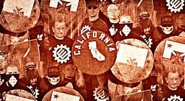 Neo-Nazis before the rally