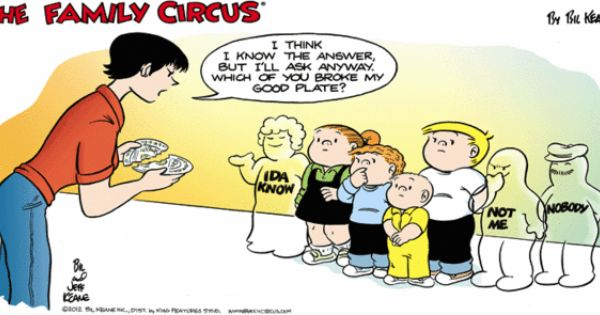 MRAs apparently learned the wrong lesson about personal responsibility from Family Circus