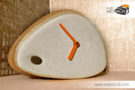 WEIBACH2 - Holz-Beton Uhr / Wood-Concrete Clock