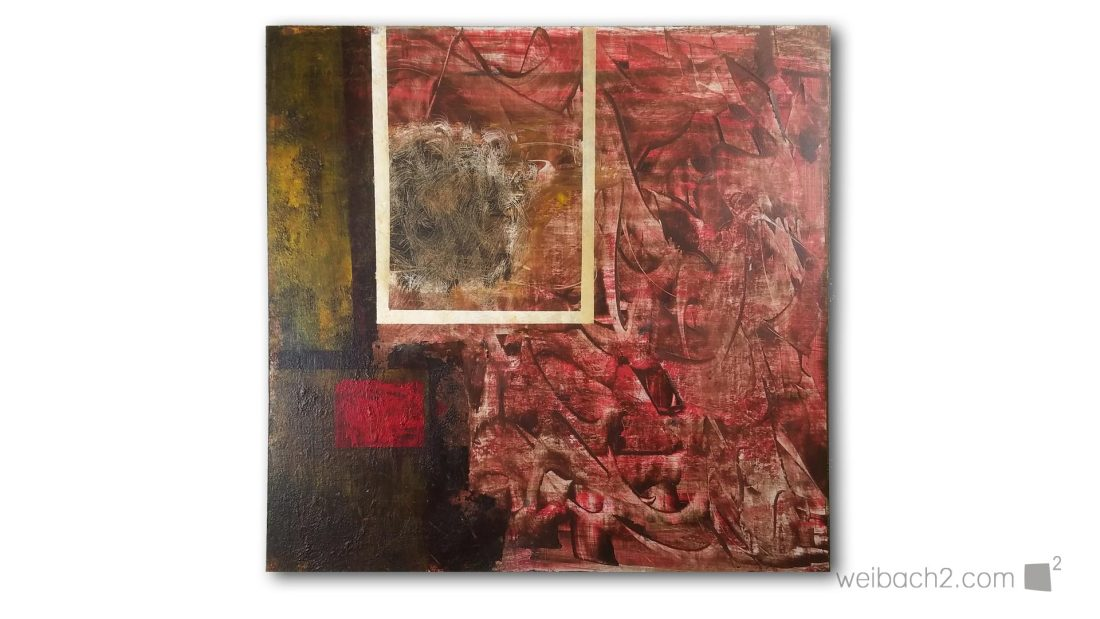 The Red Ball - Abstract Painting - Weibach2