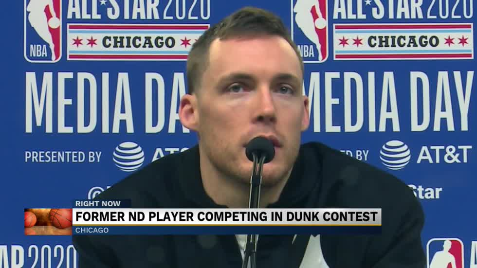 Former Notre Dame Star Competes In Nba All Star Dunk Contest