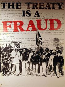 """The Treaty is a Fraud"" poster from ..."