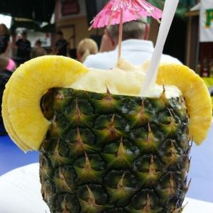 dairy free food at the MN state fair pina colada