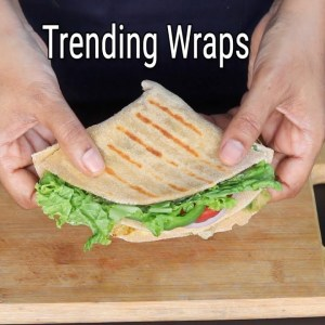 Trending Wrap Hack - Healthy Desi Version Of Trending Wraps - 100% Whole Wheat | Skinny Recipes