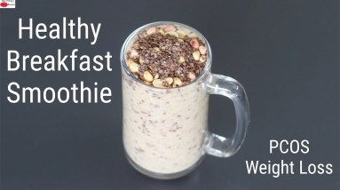 High Protein Banana Smoothie - Ragi Recipes For Weight Loss - Finger Millet   Skinny Recipes