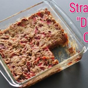 Eggless Strawberry Dump Cake Recipe From Scratch - No Maida, No Refined Sugar | Skinny Recipes