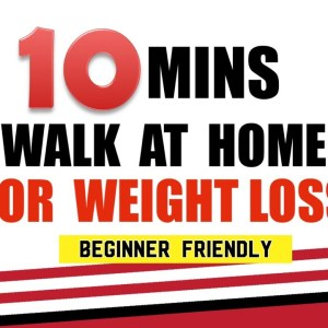 10 Mins Walk At Home For Weight loss | Fat Burning Indoor Walking Workout For Beginners