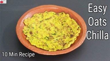 Oats Chilla Recipe - Thyroid /PCOS Weight Loss - Oats Recipes For Weight Loss   Skinny Recipes