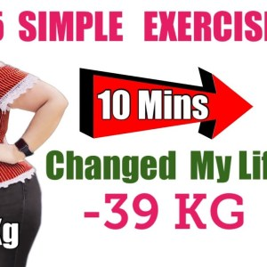 5 Easy Exercises For Weight Loss At Home | 5 Simple Exercises To Shape Your Body For Beginners
