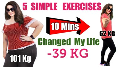 5 Easy Exercises For Weight Loss At Home   5 Simple Exercises To Shape Your Body For Beginners