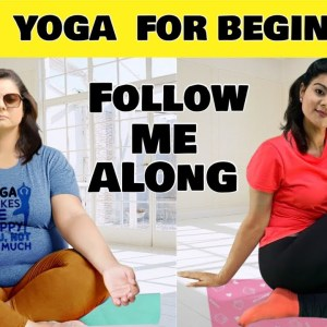 10 Mins Easy Full Body Yoga For Beginners , Plus Size & Seniors | Daily Gentle Yoga Routine