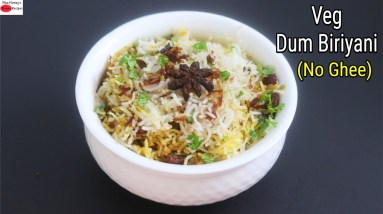 Veg Dum Biriyani - Hyderabadi Veg Biryani recipe - How To Make Hyderabadi Biryani - Healthy & Vegan