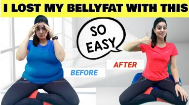 No.1 Super Simple Yoga Exercise To Lose Belly Fat in 1 Week | Beginners Yoga Pose For Flat Stomach