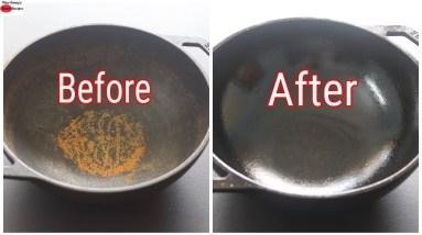 Easiest Way To Remove Rust From Cast Iron Kadai - Cast Iron Maintenance | Skinny Recipes