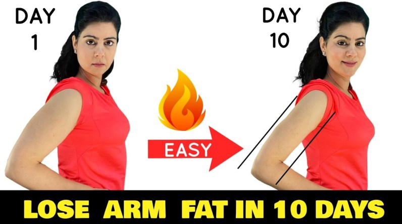 7 Mins Women's Workout To Lose Arm Fat in 10 Days | Get Slim Arms At Home Sitting ( No Equipment )