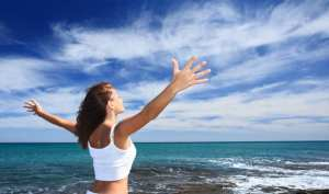 Gastric Sleeve Revovery After With Happy Girl Open Hands On The beach Blog