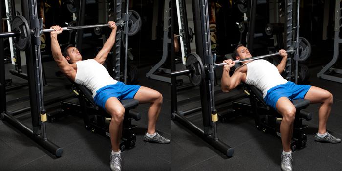 Incline Smith Machine Wide Grip Bench Press Weight