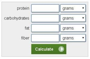 old weight watchers point calculator
