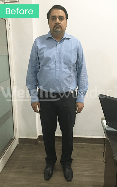Before-Ajinkya Kadam (Lost 15.5kgs)